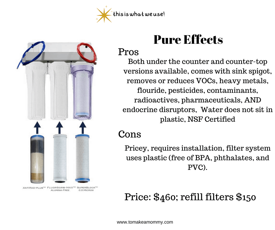 Pure Effects- The water filter that we bought during our infertility journey