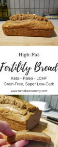 A delicious and easy fertility recipe that is high fat, low carb, and gluten free! Also LCHF, Banting,, Keto, Paleo, and Clean Eating compliant!
