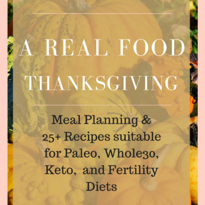 Thanksgiving Recipes & Meal Plan E-book for Fertility, Paleo, Keto, and Whole30 diets!