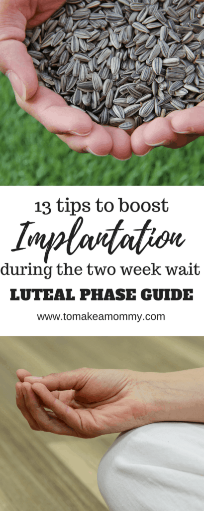 Tips for the Luteal Period- how I boosted chances of implantation