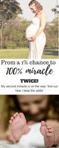 My Infertility Miracle Success Story- After receiving a miracle during primary infertility, we experienced secondary infertility trying for our next. Through a combination of prayer, mind-body work, diet, and a non-toxic lifestyle I was able to get pregnant successfully again and overcome High FSH, Low AMH, Endometriosis, MTHFR Mutation, and Recurrent Miscarriage. Read my story now!