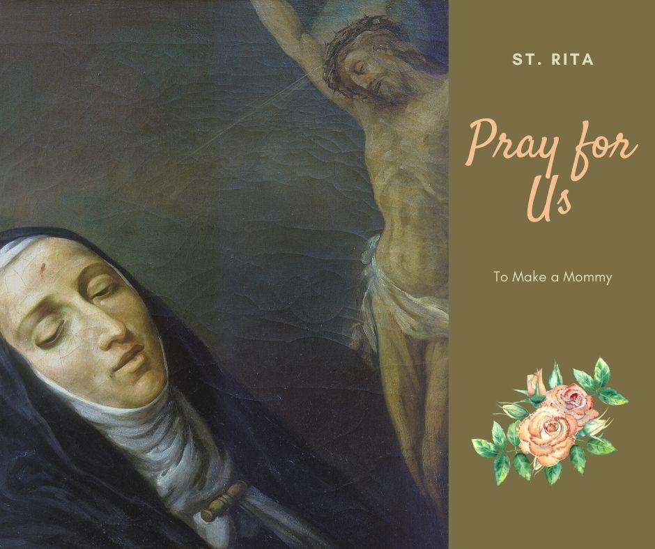 St. Rita, patron saint of infertility and hopeless causes novena fertility
