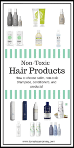 Shampoo, Conditioner, and Hair Products that are non-toxic and safer for fertility and pregnancy. #infertility #nontoxic #fertility