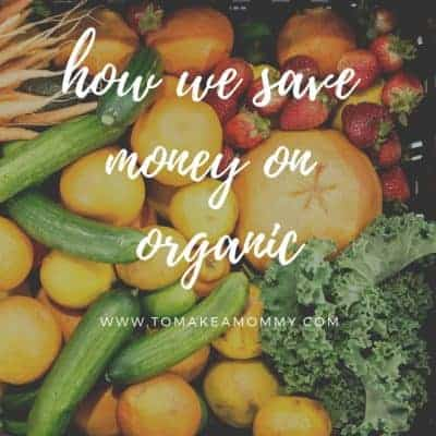 Saving money on organic food and fertility supplements