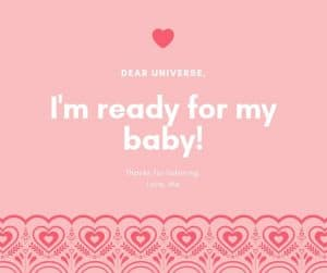 Ask the universe for your miracle baby! #infertility #fertility #ttc