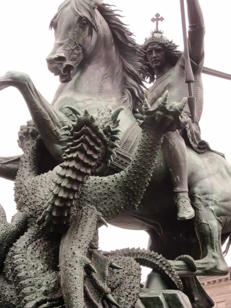 St. George defeating the dragon