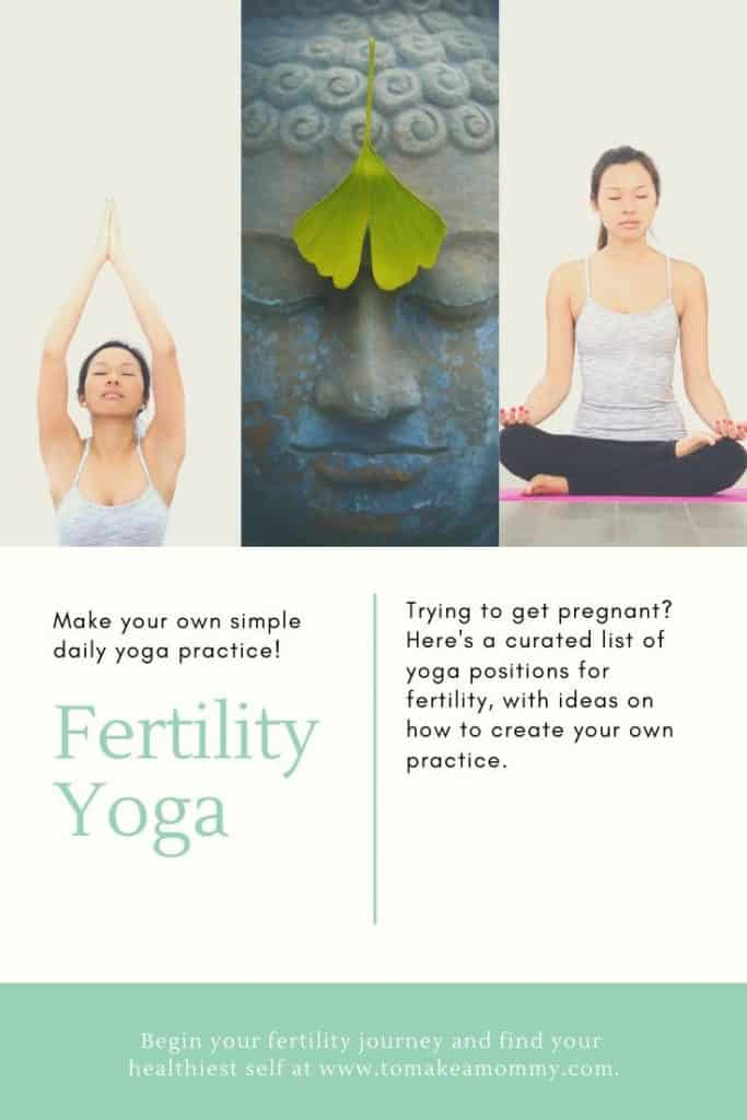 Make your own simple fertility yoga practice- or find one made for each phase of the menstrual cycle!