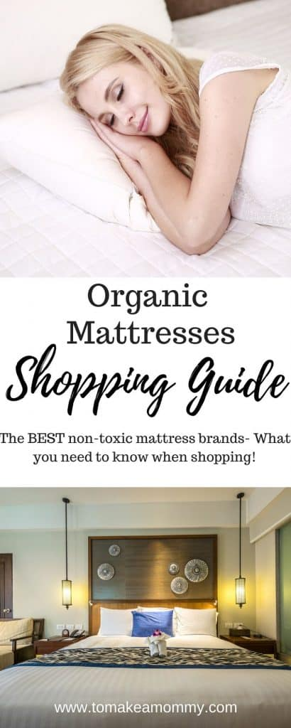 Organic mattress shopping guide- how to pick the best non-toxic mattress made with organic materials and no chemical flame retardants or VOCs!