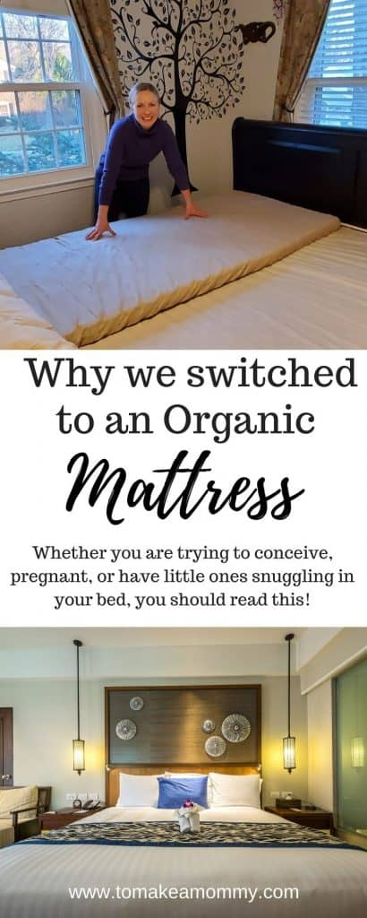 Why we switched to an organic mattress after our struggle with infertility- and why we wish we had had switched to non-toxic sooner after struggling with miscarriages!