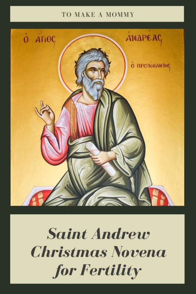 Saint Andrew Christmas Prayer for a Trying to Conceive a Baby