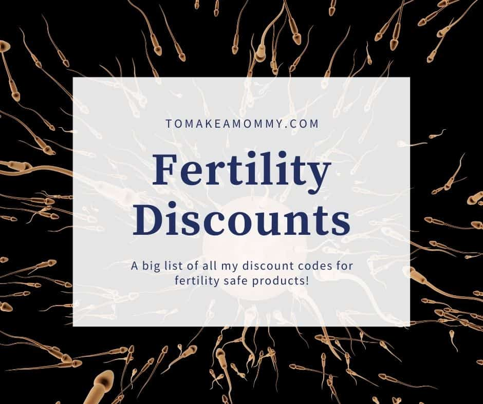 Discount codes for all my favorite fertility supplements and non-toxic products!